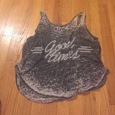 """Grey and white tank """"Good times"""" tank Tops Tank Tops"""