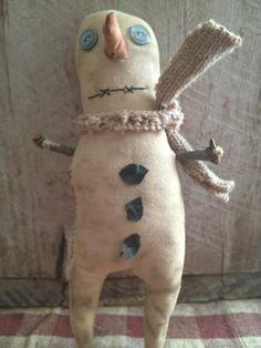 Primitive Snowman Dirty Snowboy by Rabbithollowprims on Etsy