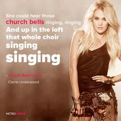 Carrie Underwood - Church Bells Lyrics and LyricArt   She could hear those church bells ringing, ringing And up in the loft, that whole choir singing, singing Fold your hands and close your eyes Yeah, it's all gonna be alright You just listen to the church bells ringing, ringing Yeah, they're ringing Jenny slipped something in his Tennessee whiskey No law man was ever gonna find And how he died is still a mystery  #CarrieUnderwood #ChurchBells #lyricArt #song #music #lyrics #CountryMusic