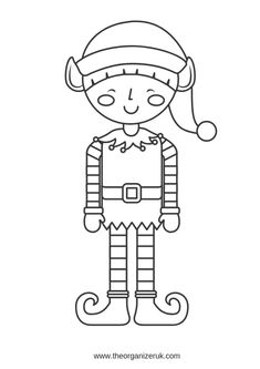 free printable elf coloring pages for kids  cool2bkids