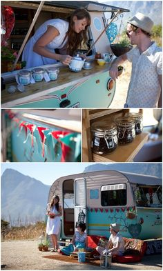 Lady Bonin in SA - tea caravan