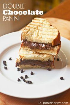 Double Chocolate Panini | paninihappy.com #chocolate