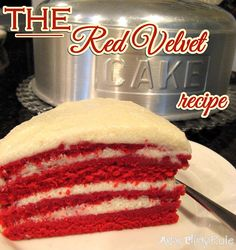 Old Family Recipe, the REAL Red Velvet Cake Recipe - Artsy Chicks Rule. Yep, this is the real deal. Must ditch the cream cheese frosting on this, people! Real Red Velvet Cake Recipe, Red Velvet Cake Rezept, Old Fashioned Red Velvet Cake Recipe, Köstliche Desserts, Delicious Desserts, Yummy Food, Cake Recipes, Dessert Recipes, Snacks Recipes