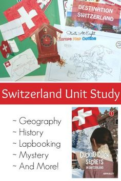 Switzerland Unit Study from Starts At Eight. Destination Switzerland from CASE OF ADVENTURE - An extensive unit study on Switzerland that includes history, geography, reading, lapbooking and so much more! Geography Lessons, Teaching Geography, Geography For Kids, World Geography, Teaching History, Teaching Kids, Homeschool High School, Homeschool Curriculum Reviews, Study History, The World, Geography Kids, History Education
