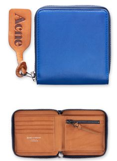 Amber Nappa Blue Wallet, Acne  http://shop.acnestudios.com/shop/women/small-leather-goods-1/amber-nappa-blue-1.html