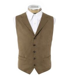 Jos A Bank Suede vest with Collar and Lapel