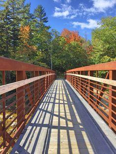 Bridge in Evan's Notch in Maine