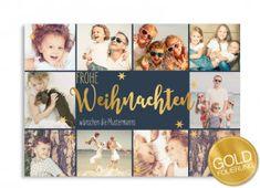 ***NEU*** Goldfolierung  Weihnachtskarte Golden Wish