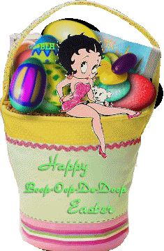 Betty Boop Free Animated Wallpaper screensavers | Betty Boop Happy Easter