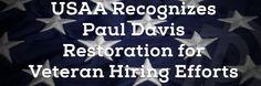 USAA Recognizes Paul Davis Restoration, Inc. for Veteran Hiring Efforts. We <3 our Vets!