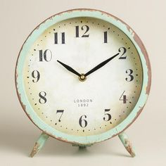 Home > Home & Décor > Home Office > Desk Accessories > Large Aqua Charlie Clock Prev Product Next Product
