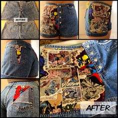 Marvel #diy high waisted shorts made by yours truly.