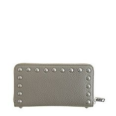 Studded continental zip wallet