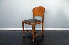 Vintage Wood Farmhouse Rustic Accent Chair Two Available Houston Texas. $135.00, via Etsy.