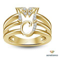 10K Yellow Gold Finish 925 Silver In Memory Of MJ Michael Jackson Men's Ring #aonebianco #MJRing