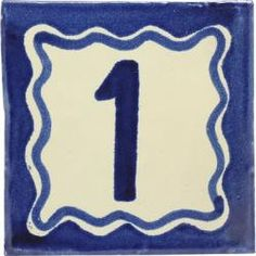 Blue - Mexican Handcrafted Ceramic Tile House Number