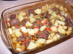 Meat and Baked Potato dinner
