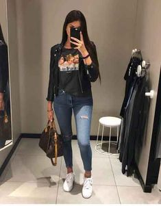 Best Jeans For Women Denim Jean Joggers Womens – bueatyk Simple Fall Outfits, Cute Casual Outfits, Summer Outfits, Girl Outfits, Fashion Outfits, Fashion Models, About You Mode, Mode Instagram, Beste Jeans