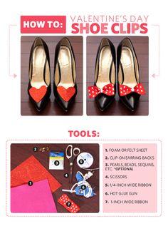 DIY Shoe Clips: We Heart Bow-tiful Shoes