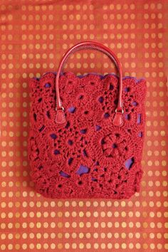 Ravelry: Mixed Motif Tote pattern by Erika Knight Crochet Doily Rug, Freeform Crochet, Love Crochet, Irish Crochet, Knit Crochet, Crochet Patterns, Crochet Handbags, Crochet Purses, Crochet Bags