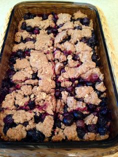 These Healthy Lemon Blueberry Bars are a great summer dessert! They're light and flavorful, making them a tasty fruit dessert.