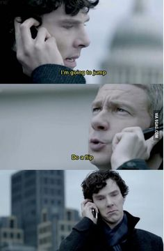 Sherlock Challenge day 14: favorite fandom joke, idk why I find this so funny, but every time I see it I laugh so hard