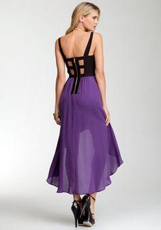 bebe   Hi-Lo Corset Top Maxi Dress - Special Event Dresses ( i want it )