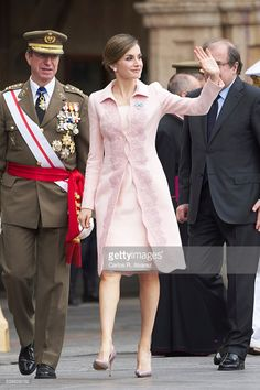 Queen Letizia of Spain delivers a new National Flag to Speciality of Engineers Regiment Number 11 on June 13, 2016 in Salamanca, Spain.