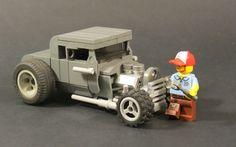 "Heavily inspired by _Tiler. I tried to not look at his builds to avoid burglarizing any significant structural similarities. Ideally I'd have changed the front tires but I have to be content making do with what I have. This is based on my childhood memory of my dad. Fortunately he's still alive :) He's built and raced hot rods ever since I can remember. He used to always wear a Cincinnati Reds cap and have mended ""tweeds"" often held up by rope, mainly because he would ..."