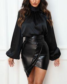 Chic Me: Women's Fashion Online Shopping Black Women Fashion, Look Fashion, Girl Fashion, Fashion Dresses, Womens Fashion, Fashion Trends, Fashion Blouses, Petite Fashion, Fashion Tips
