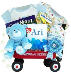 """Personalized """"Thank Heaven"""" For Little Boys – Radio Flyer Wagon"""