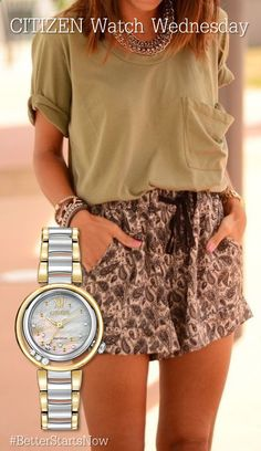 There is 0 tip to buy summer outfits, shorts, high waisted shorts, casual, t-shirt. Help by posting a tip if you know where to get one of these clothes. Mode Chic, Mode Style, Mode Outfits, Casual Outfits, Spring Summer Fashion, Spring Outfits, Look Fashion, Womens Fashion, Fashion Trends