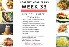 Healthy Meal Planning Made Easy & Week 33 Meal Plan