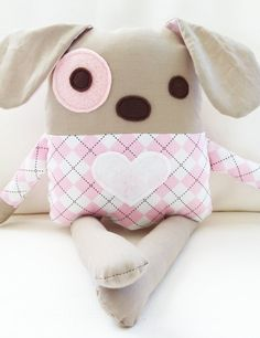 Dog Sewing Pattern - Plush Dog Softie Pattern - PDF. $8.00, via Etsy.