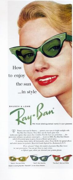 Bausch & Lomb  Ray - Ban cat eye #sunglasses