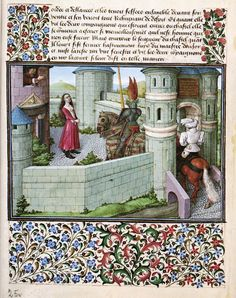 Barthélémy d'Eyck, Cœur et Désir au Château de Tristesse (Livre du Cœur d'Amour épris) (1457-72, Österreichische Nationalbibliothek, Wien)
