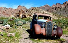 A Classic in the DesertNelson Ghost Town, Nevada Antique touring car left to rust in peace in the old mining ghost town of Nelson, Nevada.