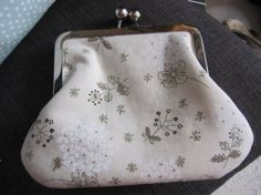 Clutch Purse metal frame retro silver frame by DesignsMadeByJane, $40.00
