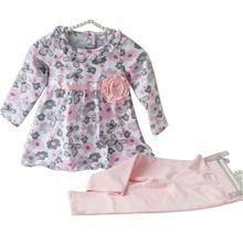Carter roupas floral recém-nascido criança terno de algodão crianças primavera roupas de treino conjunto de roupas para meninas(China (Mainland))
