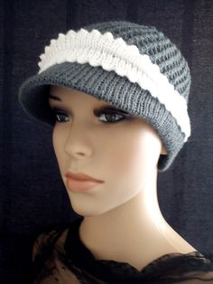 Crochet Knit Cap Beanie Chemo   Comfortable Casual Short brimmed Hat