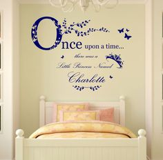 Personalised Name Once Upon a Time Princess  Wall Art by Purrfic, £20.99