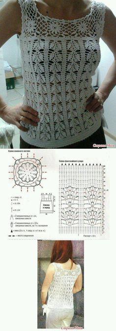 Zomers Shirt Haken met Diagrammen