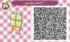 Animal Crossing: New Leaf & HHD QR Code Paths , chai-tease: I made a simple little garden path...