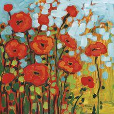 Red Poppy Field Print van Jennifer Lommers bij AllPosters.nl