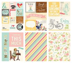 Daily Flash Girl Talk Collection   By October Afternoon   6x8 Paper Pack (A)