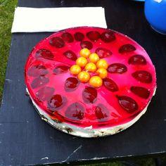 Home made Polish cheese cake For Swedish midsummer!