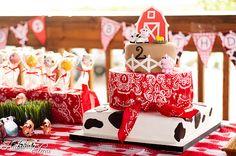 tarta fiesta en la Granja decoración evento infantil cumpleaños y comunión - kids children cake birthday farm party decoration miraquechulo