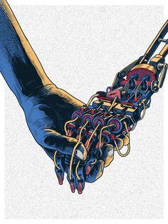 Creative Illustration, Machine, Hand, and Robot image ideas & inspiration on Designspiration Space Ghost, Louise Bourgeois, Pop Art, Ex Machina, Cool Stuff, Lunar Chronicles, Cultura Pop, Grafik Design, Vaporwave