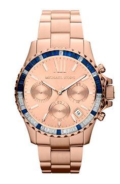 Michael Kors 'Everest' Baguette Crystal Bezel Bracelet Watch available at #Nordstrom