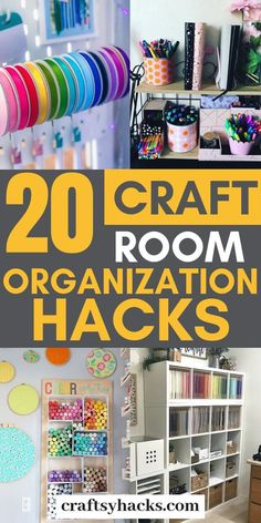 20 Craft Room Organization Hacks Try craft room organization tips are just the best. Organize craft room on low budget, start crafting and enjoy having a neat room. Craft Room Design, Craft Room Decor, Cricut Craft Room, Decor Crafts, Home Decor, Craft Room Storage, Sewing Room Organization, Craft Room Organizing, Pegboard Craft Room